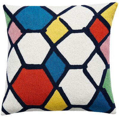 Kaleidoscope New Zealand Wool Throw Pillow