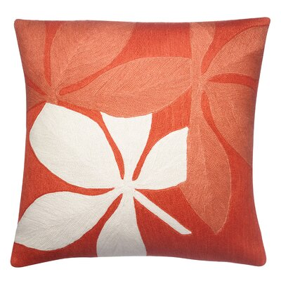 Fauna Wool Throw Pillow Color: Coral / Guava / Cream