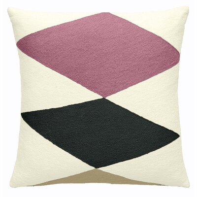 Ace Wool Throw Pillow Color: Cream / Dustypink / Charcoal / Blonde