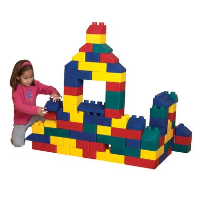 Giant Size for Play and STEM Education-33 piece ECR4Kids Jumbo Building Blocks