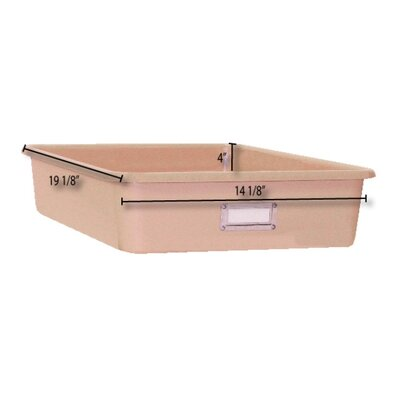 "Fabri-Form Co Wide Rectangular Storage Tray - Color: Tan, Size: 4"" H x 14.125"" W x 19.125"" D at Sears.com"