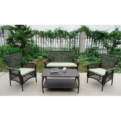 Flowers All Weather Wicker Longe Sectional Seating Group 7672 Item Photo