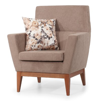 AERO Occasional ArmChair Color: Beige
