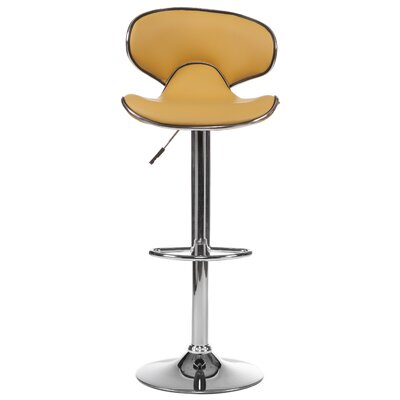 Adjustable Height Swivel Bar Stool (Set of 2) Upholstery: Yellow