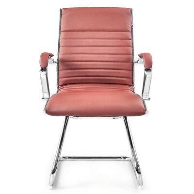 Kingsview Mid-Back Executive Guest Chair Color: Brown