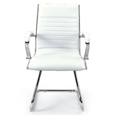 Kingsview Mid-Back Executive Guest Chair Color: White