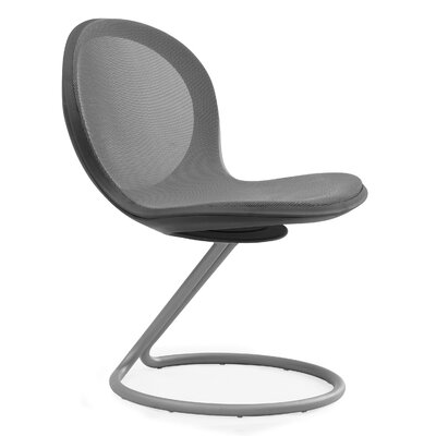 Net Round Base Chair (Set of 2) Color: Gray