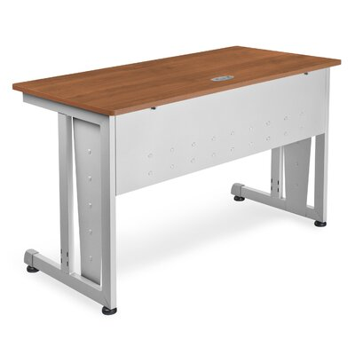 48 W Training Table with Modesty Panel Tabletop Finish: Cherry and Silver