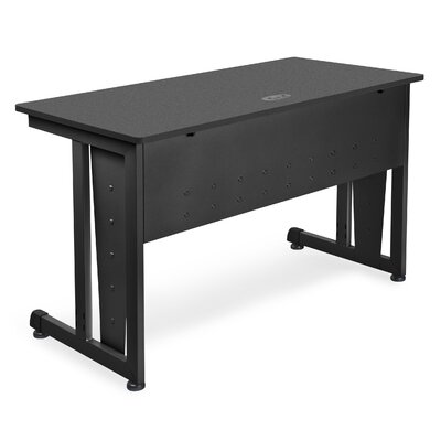 48 W Training Table with Modesty Panel Tabletop Finish: Graphite and Black
