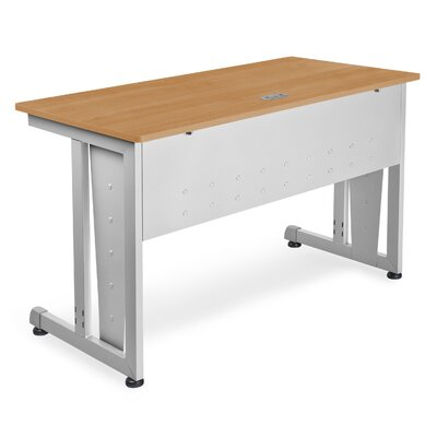 48 W Training Table with Modesty Panel Tabletop Finish: Maple and Silver