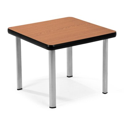 Square End Table Top Color: Cherry, Base Color: Silver