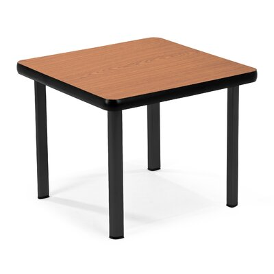 Square End Table Base Finish: Black, Top Finish: Cherry