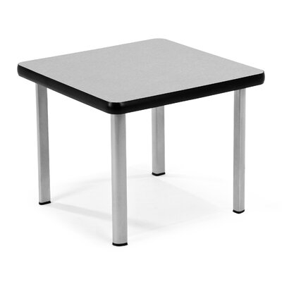 Square End Table Base Finish: Silver, Top Finish: Gray