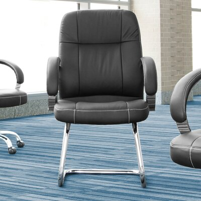 Leatherette Executive Conference Guest Chair Seat Color: Wine