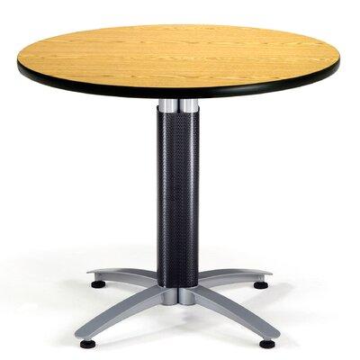 Multi-Use Round Gathering Table Size: 36 Diameter, Color: Oak
