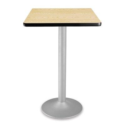 Cafe Square Gathering Table Size: 24 Diameter, Color: Oak