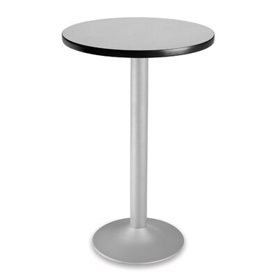Cafe Round Gathering Table Size: 24 Diameter, Color: Gray nebula