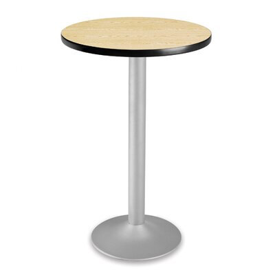 Cafe Round Gathering Table Size: 30 Diameter, Color: Gray nebula
