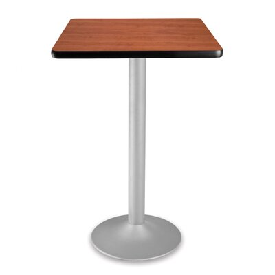 Cafe Square Gathering Table Size: 24 Diameter, Color: Cherry