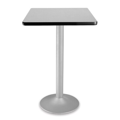 Cafe Square Gathering Table Size: 24 Diameter, Color: Gray nebula