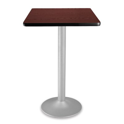 Cafe Square Gathering Table Size: 24 Diameter, Color: Mahogany