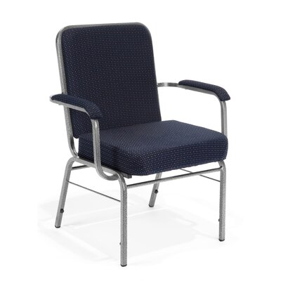 Big and Tall Mid-Back Stacking Chair with Cushion Seat Finish: Pinpoint Navy