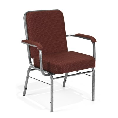 Big and Tall Mid-Back Stacking Chair with Cushion Seat Finish: Pinpoint Wine