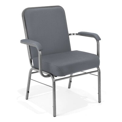 Big and Tall Mid-Back Stacking Chair with Cushion Seat Finish: Gray