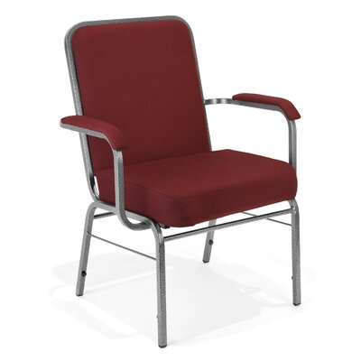Big and Tall Mid-Back Stacking Chair with Cushion Seat Finish: Wine