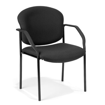 Manor Series Deluxe Upholstered Stacking Guest Chair Seat Finish: Fabric/Black