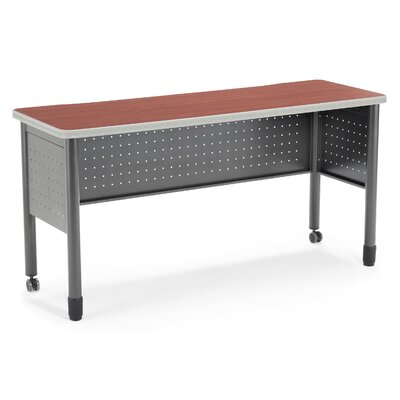 59 W Mesa Series Training Table with Wheels Tabletop Finish: Cherry