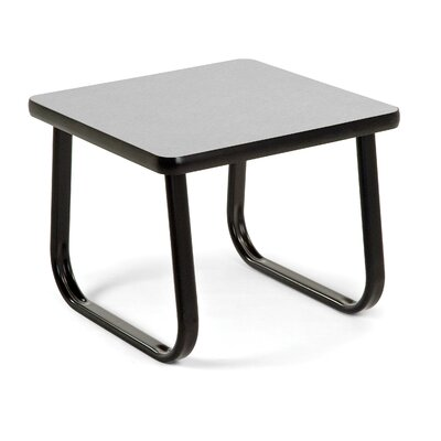 End Table with Sled Base Color: Gray