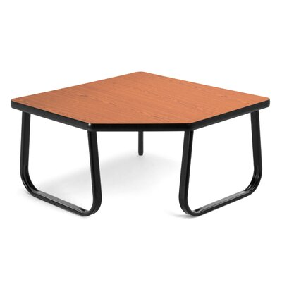Corner Table with Sled Base Color: Cherry