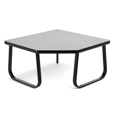 Corner Table with Sled Base Color: Gray