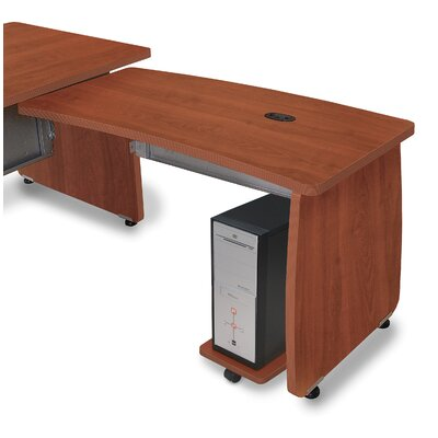 Milano 27.6 H x 47.2 W Right Desk Return Finish: Cherry