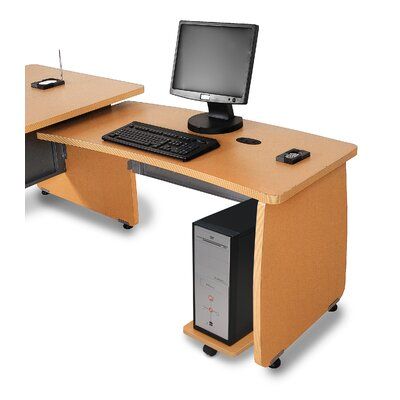 Milano 27.6 H x 47.2 W Right Desk Return Finish: Maple