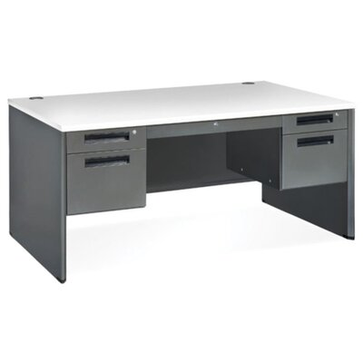 Mesa Series Computer Panel End Computer Desk Size: 30 x 60, Table Top Finish: Gray Nebula Product Picture 1021
