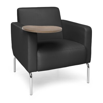 Triumph Series Lounge Chair with Tablet Color: Black, Finish: Bronze