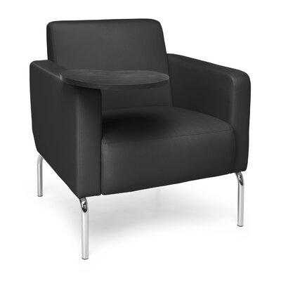 Triumph Series Lounge Chair with Tablet Color: Black, Finish: Tungsten