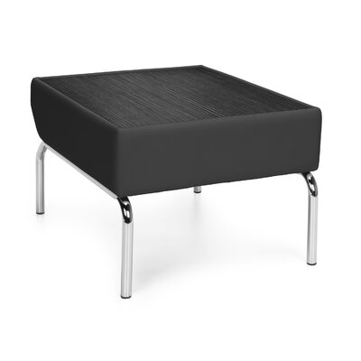Triumph Series Laminate Top Table with Polyurethane Border Color: Black, Finish: Tungsten
