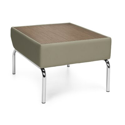 Triumph Series Laminate Top Table with Polyurethane Border Color: Taupe, Finish: Bronze