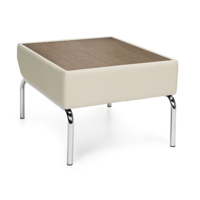 Triumph Series Laminate Top Table with Polyurethane Border Color: Cream, Finish: Bronze