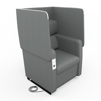 Morph Series Soft Seating Convertible Chair Upholstery: Slate