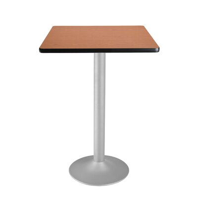 Cafe Square Gathering Table Size: 30 Diameter, Color: Cherry