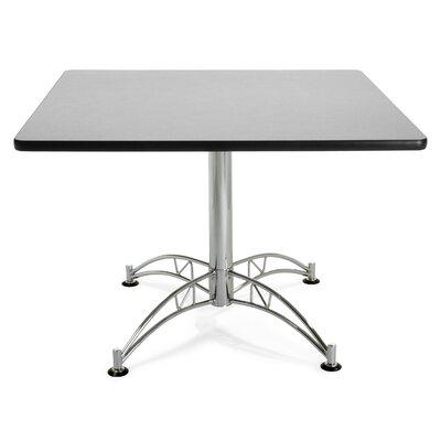 Multi-Purpose Square Gathering Table Size: 42 Diameter, Finish: Gray Nebula