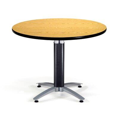 Multi-Use Round Gathering Table Size: 42 Diameter, Color: Oak