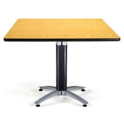 Multi-Use Square Gathering Table Size: 42 W x 42 D, Top Finish: Oak