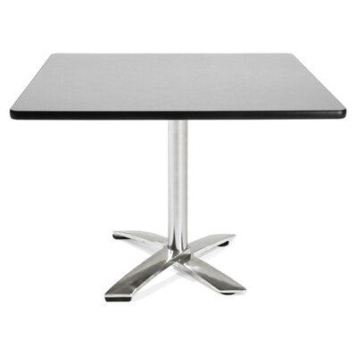 Multi-Use Square Gathering Table Color: Gray nebula