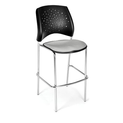 Stars and Moon 31.25 Bar Stool Base Finish: Chrome, Upholstery: Putty