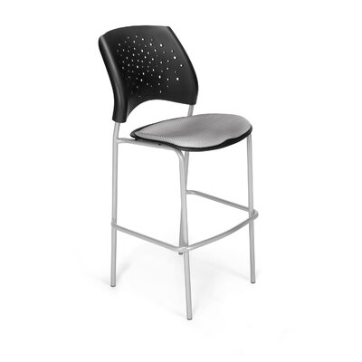 Stars and Moon 31.25 Bar Stool Base Finish: Silver, Upholstery: Putty